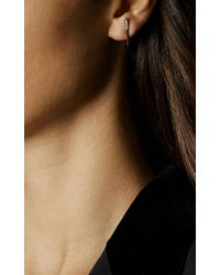 Karen Millen - Metallic Chasing Drop Stud Earrings - Gold Colour - Lyst