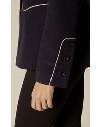 Karen Millen - Blue Navy Reefer Coat - Navy - Lyst