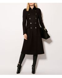 Karen Millen - Blue Military Wool Coat - Navy - Lyst