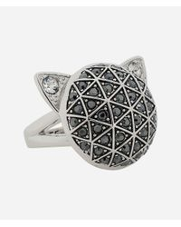 Karl Lagerfeld - Metallic Faceted Choupette Ring - Lyst