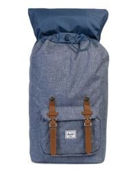 Herschel Supply Co. - Blue The Little America Backpack In Dark Chambray Crosshatch for Men - Lyst