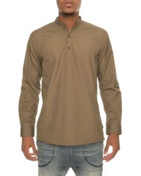 I Love Ugly - The Mandarin Pullover Shirt In Army Green for Men - Lyst
