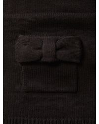 Kate Spade - Black Bow Scarf - Lyst