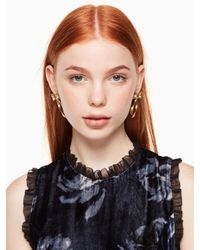 Kate Spade - Metallic All Wrapped Up Statement Earrings - Lyst