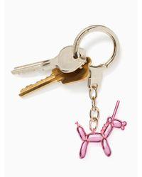 kate spade new york - Pink Unicorn Balloon Keychain - Lyst