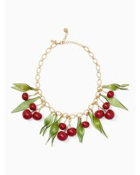 Kate Spade | Multicolor Ma Chérie Cherry Statement Necklace | Lyst