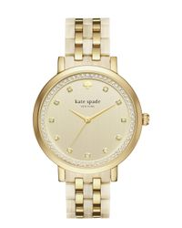 Kate Spade - Metallic Gold And Horn Monterey Watch - Lyst