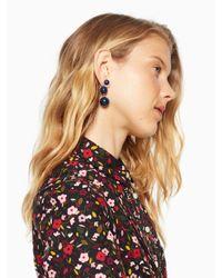 Kate Spade - Blue Golden Girl Bauble Drop Earrings - Lyst