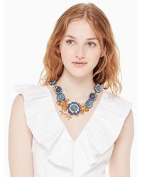 Kate Spade - Blue Flower Child Statement Necklace - Lyst