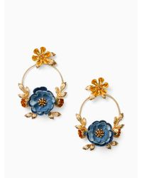Kate Spade - Multicolor Flower Child Door Knocker Earrings - Lyst