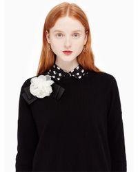 Kate Spade - Black Rosette Bow Sweater - Lyst