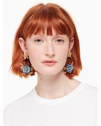 Kate Spade - Multicolor Flower Child Door Knocker Earrings - Lyst