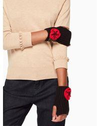 Kate Spade | Black Crochet Poppy Armwarmers | Lyst