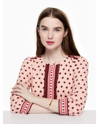 Kate Spade - Multicolor Do The Twist Pave Hinged Bangle - Lyst
