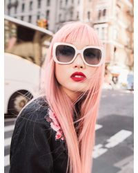 Kate Spade - White Krystalyn Sunglasses - Lyst