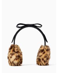 Kate Spade - White Faux Fur Earmuff - Lyst