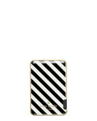 kate spade new york | Black Stripe Slim Battery Bank | Lyst