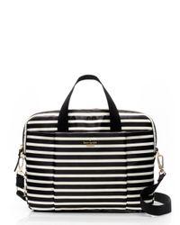 Kate Spade | Black Classic Nylon Stripe Laptop Commuter Bag | Lyst