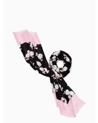 kate spade new york | Black Posy Floral Oblong | Lyst