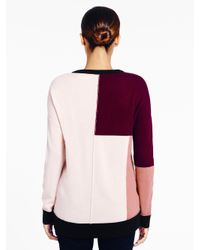 kate spade new york - Multicolor Colorblock Slouchy Sweater - Lyst