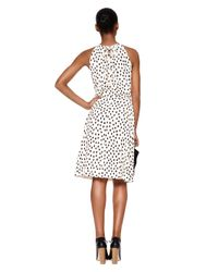 kate spade new york - Pink Leopard Dot Tie Back Dress - Lyst