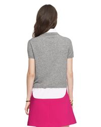 kate spade new york | Gray Shirttail Sweater | Lyst