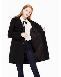 Kate Spade - Black Jewel Button Boucle Coat - Lyst