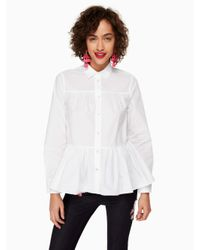 kate spade new york | White Poplin Swing Shirt | Lyst