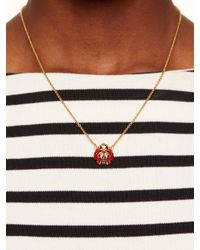 kate spade new york - Red Garden Party Ladybug Mini Pendant - Lyst