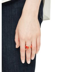 kate spade new york - Orange Into The Woods Fox Ring - Lyst