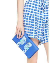 kate spade new york - Blue Breath Of Fresh Air Seahorse Applique Cali - Lyst