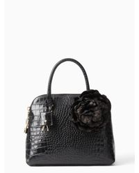 kate spade new york | Black Fontaine Court Croc Margot | Lyst