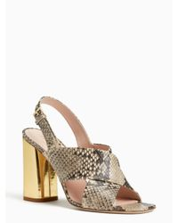 kate spade new york | Natural Christopher Heels | Lyst
