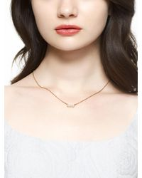 kate spade new york - Metallic Say Yes Pave Mrs Necklace - Lyst