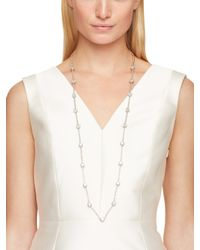 kate spade new york | Metallic Clink Of Ice Scatter Necklace | Lyst
