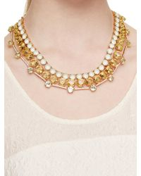 kate spade new york - Metallic Carnival Crystal Statement Necklace - Lyst