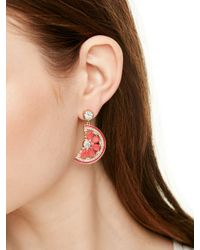 kate spade new york - Pink Out Of Office Grapefruit Drop Earrings - Lyst
