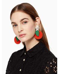 Kate Spade - Orange Citrus Crush Statement Earrings - Lyst