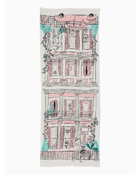 Kate Spade - Multicolor New Orleans House Oblong Scarf - Lyst