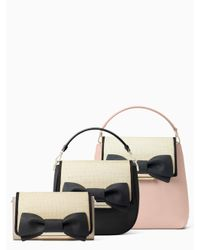 Kate Spade - Natural Make It Mine Straw Bow Flap - Lyst