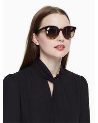 Kate Spade - Brown Abianne Sunglasses - Lyst