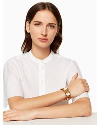 Kate Spade - White Bright And Bold Cuff - Lyst