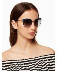 Kate Spade - Blue Genice Sunglasses - Lyst