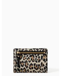 Kate Spade - Black Grove Street Leopard Tellie - Lyst