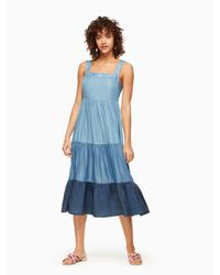 Kate Spade - Blue Chambray Patio Dress - Lyst