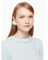 Kate Spade - Multicolor Star Bright Owl Reversible Earrings - Lyst