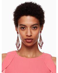 Kate Spade - Multicolor Cascade Statement Earrings - Lyst