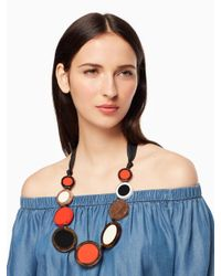 Kate Spade - Blue Connect The Dots Statement Necklace - Lyst
