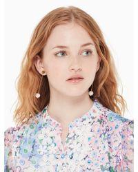 Kate Spade - White Flying Colors Linear Earrings - Lyst