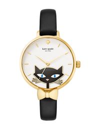 kate spade new york - Black Jazz Cat Metro Watch - Lyst